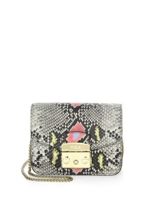 Vaniglia Mini Leather Crossbody Bag by Furla
