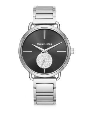 Portia Stainless Steel Two-Hand Sub-Eye Chronograph Bracelet Watch
