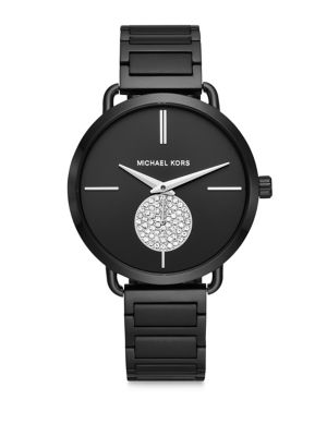 Portia Crystal and Stainless Steel Bracelet Watch