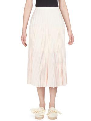 Knit Plisse Skirt