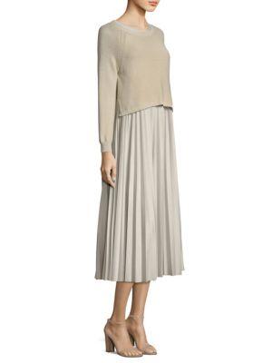Zucca Knit Skirt Combo Dress