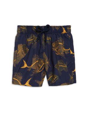 Boy's Prehistoric Fishes Swim Shorts