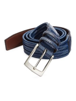 COLLECTION Exotic Tab Stretch Leather Belt