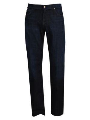 Relaxed Straight-Fit Faded Jeans