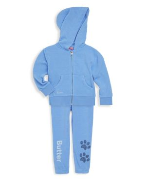Baby's & Toddler's Two-Piece Burnout Fleece Tracksuit