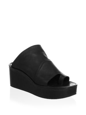 The After Leather Wedge Sandals
