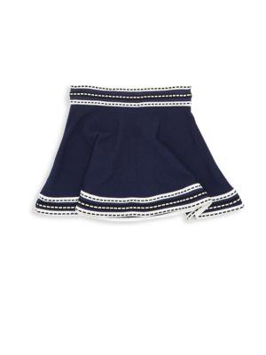 Toddler's, Little Girl's & Girl's Woven Trim Skirt