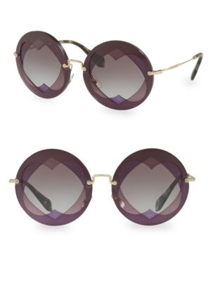 Injected Woman's 62MM Round Sunglasses