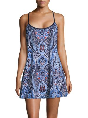 Lace Back Printed Chemise