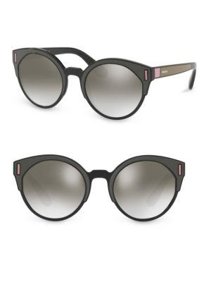Matte Black Mirrored Sunglasses