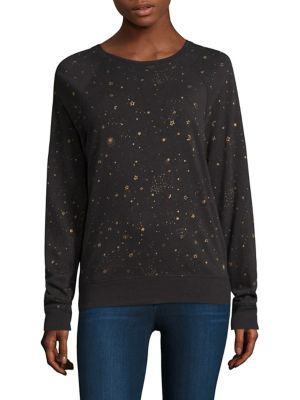 Star-Print Pullover
