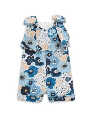 Baby Girl's & Toddler's Floral Cotton Romper