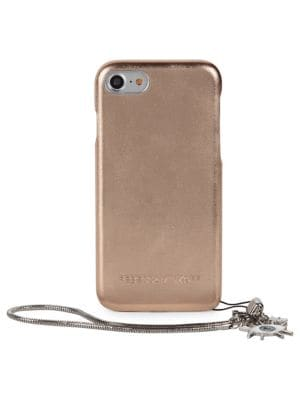 Metallic Leather Wrap iPhone Case