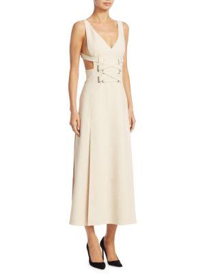 Cut-Out Lace-Up Dress