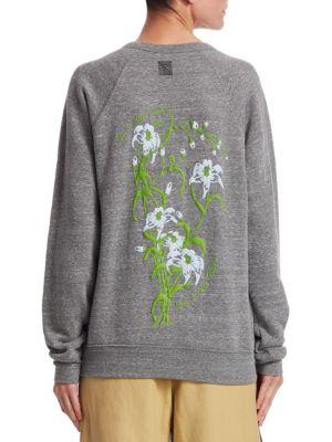 Puff Paint Floral Sweatshirt