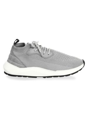 SPEED ARCH RUNNER GREY KNITTED TRAINERS