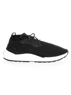SPEED ARCH RUNNER BLACK KNITTED TRAINERS