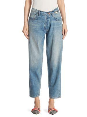 Zip Waist Denim Jeans