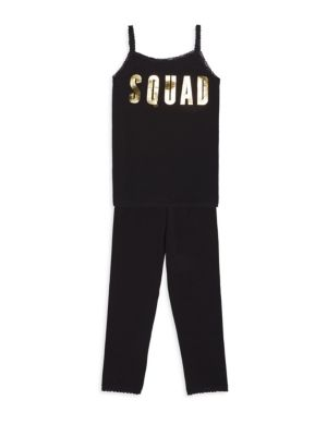 Toddler's, Little Girl's & Girl's Two-Piece Squad Loungewear Set