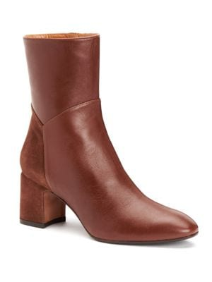 Point Toe Leather Booties