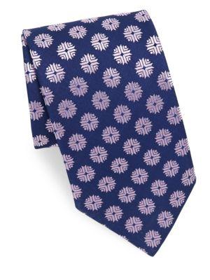 Flake Pattern Silk Tie