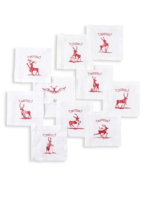 Country Estate Reindeer Games Set of Nine Coasters