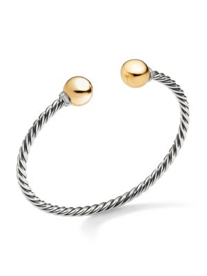 Solari Sterling Silver Diamond & Bead Bracelet
