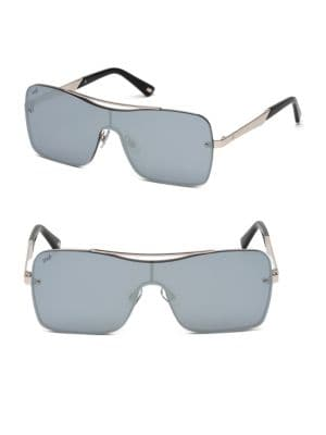 Square Shield Metal Sunglasses