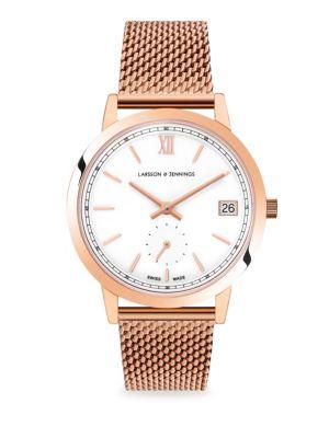 Saxon 33mm Rose Gold Milanese Band Watch