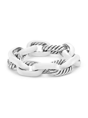 DAVID YURMAN Madison Chain Enamel Sterling Silver Extra Large Bracelet