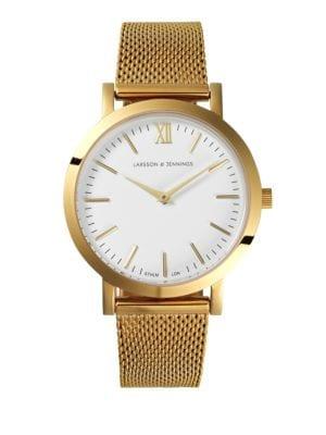Lugano 33mm Yellow Gold Milanese Band Watch