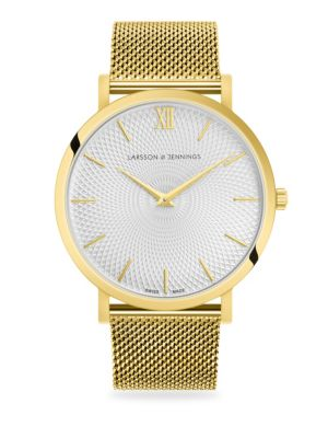 Lugano 40mm Gold Round Face Watch