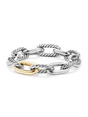 Madison Chain Large Bracelet With 18K Gold