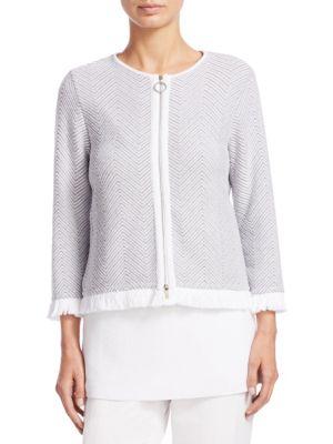 Giacca Corta Herringbone Knit Jacket