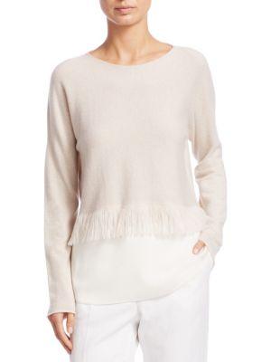 Cropped Crêpe Cashmere Sweater
