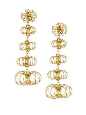 Flower Open Wire Post Earrings