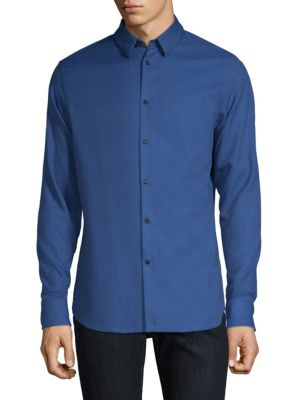 J. LINDEBERG Classic Cotton Button-Down Shirt