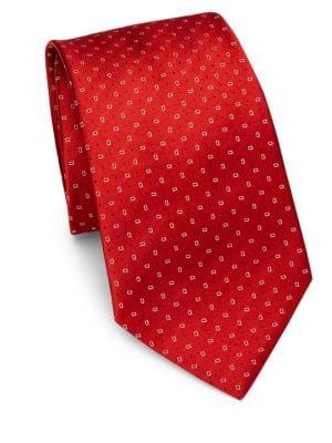 Red Neat Silk Tie