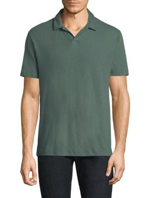 Palm Jersey Open Polo Shirt