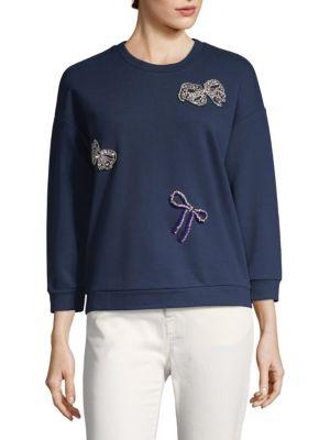 Embellished Cotton Pullover