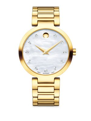 Modern Classic Diamond Quartz Watch