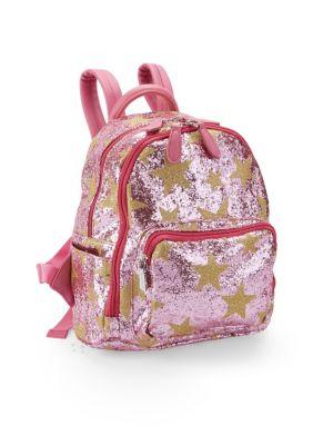 Pink Star Glitter Backpack
