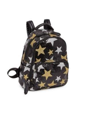 Black Star Glitter Backpack
