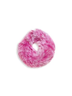 Girl's Fox Fur Scrunchie