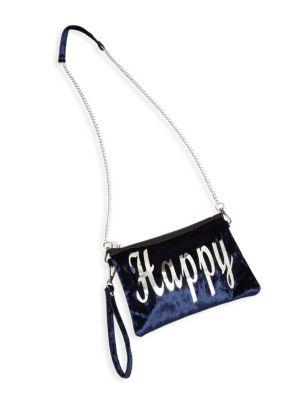 Girl's Happy Velvet Shoulder Bag