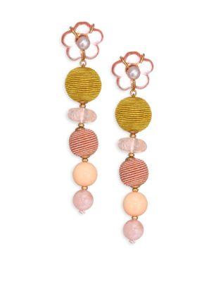 7MM Pearl Meadow Flower Drop Earrings
