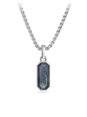 Labradorite Emerald Cut Amulet