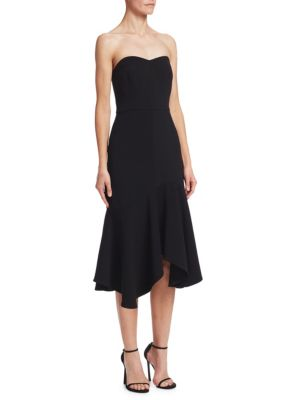 Strapless Flounce Sheath Dress