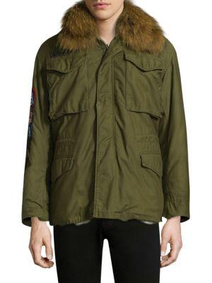 Original Military Jacket With Fur Collar