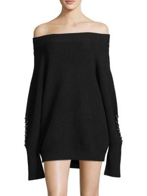 Off-The-Shoulder Sweater Dress